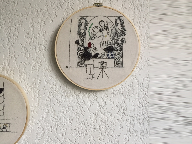 Bordado Eumelia Viendo Retablo Papalote