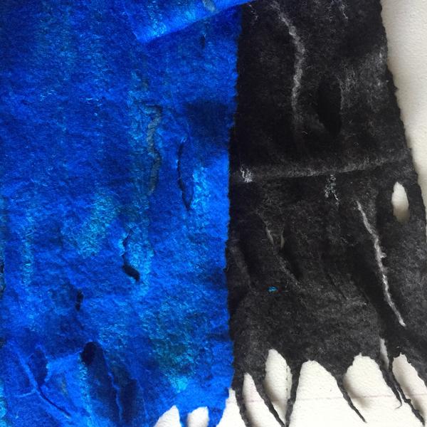 Bufandas de lana y seda