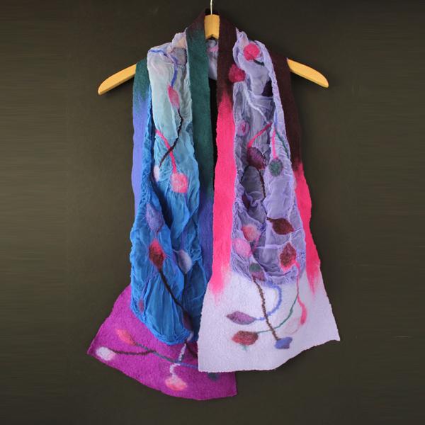 Mascada de seda y lana