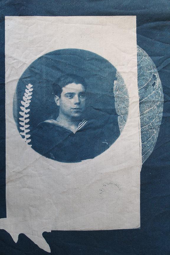 Cianotipia textil.